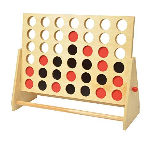 4 gewinnt Spiel in XXL Ausführung - Vier in Einer Reihe - Holz Strategiespiel Kinder Spiel für Außen