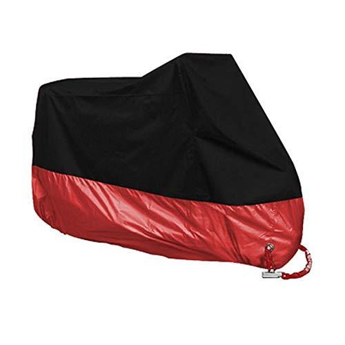 Preisvergleich Produktbild Naisidier Motorradabdeckung für Outdoor-Aufbewahrung,  UV-Schutz – Schutz vor Allen Wetterbedingungen,  Motorrad-Abdeckung (Schwarz,  Rot) Autozubehör