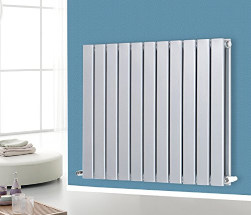 Right Radiator Horizontal 600x748 Flat Panel Column Designer Radiator Bathroom Central Heating Double Silver Right Radiator