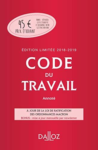 Code du travail 2018-2019 annoté, Édition limitée