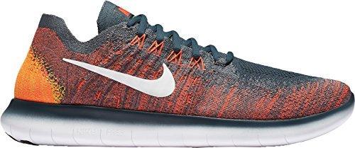 Preisvergleich Produktbild Nike Mens Free RN Flyknit 2017 Running Shoes (Grey/Crimson, 11.5)