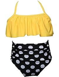 393c71f18d51   Bikini Set di Ragazze  Costume da Bagno Due Pezzi di Bambini   feiXIANG®  Bambine Un Pezzo di Ruffles Bikini…