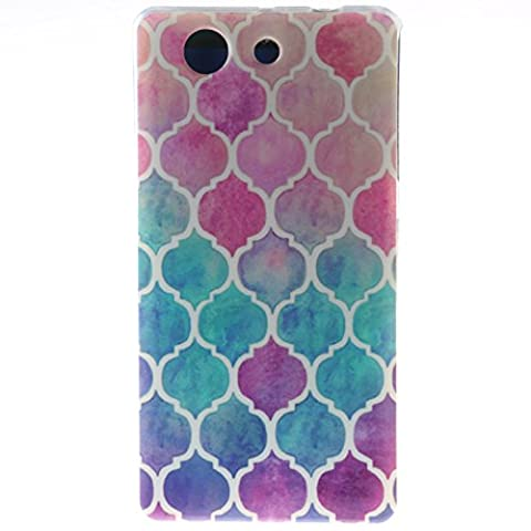 Sony Xperia Z3Mini(4.6 Inch)/ Z3 Compact Case, BONROY® Sony Xperia Z3Mini(4.6 Inch)/ Z3 Compact Fashion colorful pattern Case Bumper Transparent Soft Gel Shockproof Case Resist Protection Shell for Sony Xperia Z3Mini(4.6 Inch)/ Z3