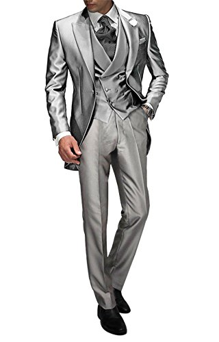 a3fab5897a7f Suit Me Tailored Men 3 Piezas de Traje de Chaqueta de Smoking Chaqueta de  la Boda