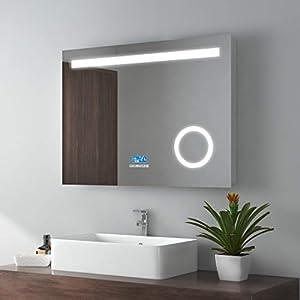 Badspiegel Mit Beleuchtung Led Uhr Deine Wohnideen De