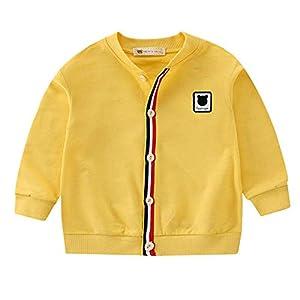 Fewao - Cárdigan de punto para bebé y niña, de algodón, para otoño e invierno, cálido, uniforme, para la escuela verde… 10
