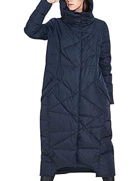 Youlee Mujeres Invierno Largo Abrigo con capucha y bolsillos