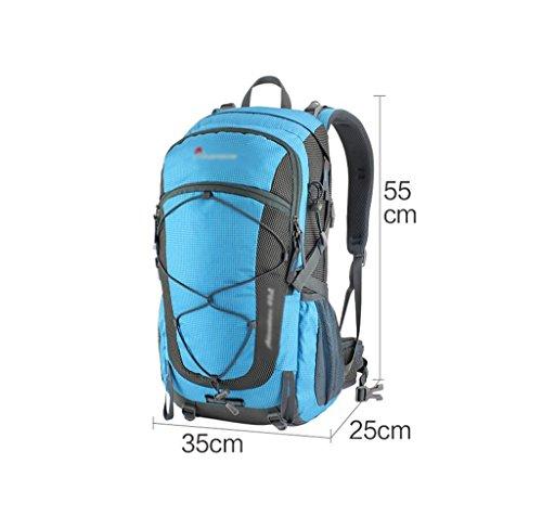 HWLXBB Borsa per alpinismo all'aperto Uomini e donne 40L Borsa da montagna impermeabile multifunzione Escursioni a trekking zaino ( Colore : 1* ) 5*