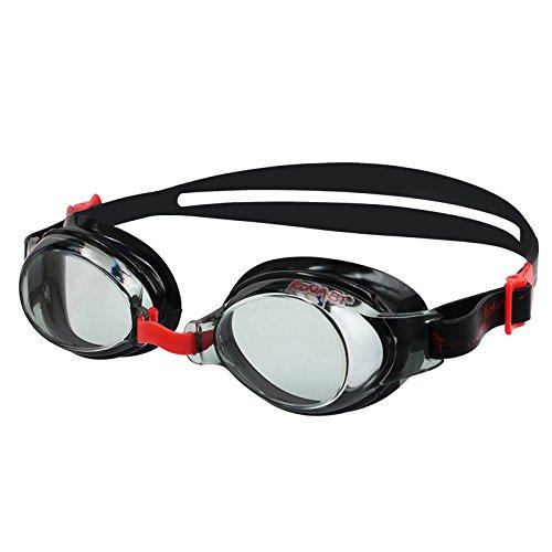 KONA81 K713 - Optische Schwimmbrille mit Sehstärke (diverse zwischen 0.0 bis - 8.0) für Damen und Herren, 100% UV-Schutz, Anti-Beschlag-Beschichtung, Wasserdicht #71395 (Rot, -3.5)