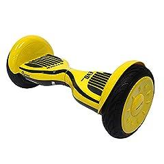 Idea Regalo - Hoverboard con LED e Borsa per Il Trasporto, 10 Pollici Scooter Elettrico Auto bilanciato Certificato UL2272, Smart Flash Skateboard a Due Ruote per Bambini e Adulti,2 * 350W Motore