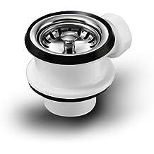 Universal con válvula de canasta 70 mm con conexión para rebosadero y filtro manual/desagüe/Y/repuesto/fregadero