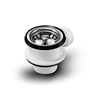 universal siebkorbventil 70 mm mit anschluss f r berlauf und siebk rbchen manuell ablauf. Black Bedroom Furniture Sets. Home Design Ideas