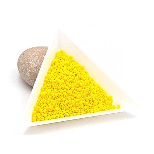 Creafirm 15 grammes de Perles Miyuki Rocailles 11/0 Opaque Yellow 404 par  Creafirm