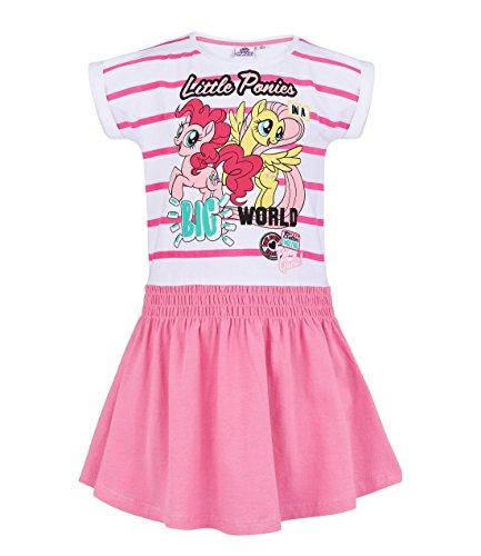 My little Pony Kleid, weiß-rosa, Gr. 92-128 Größe - Twilight My Little Pony Kostüm
