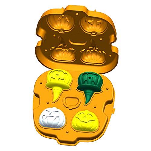 Gszfsm001 Eiswürfelform, Halloween, Totenkopf, Kürbisform, Schokolade, Küche Bar Supplies app.15.5cmx14cmx5cm/6.10inx5.51inx1.97in ()