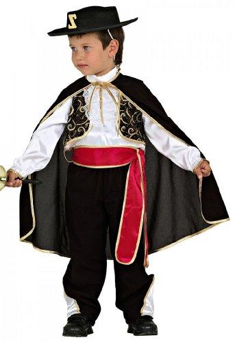 Unbekannt Kostüm Zorro Kinder Torrero mit Hut komplett Gr. 116