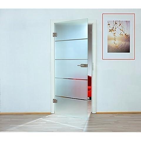 Puerta de cristal de a través de puerta de cristal de hoja de puerta de madera de 8 mm de vidrio templado de seguridad de una sola cara parte de estera frasco cerrado 345 - varios modelos, 959x 1972 mm    DIN links