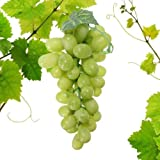 Reiki Crystal Products Artificial Grapes Plastic Fruit Food Home Decor (Green)