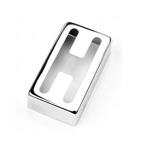 ROSENICE Kupfer H-förmigen Humbucker Pickup Cover für e-Gitarre (Silber) Gitarre Pickup Humbucker