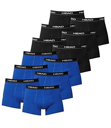 Head uomo boxer mutande molti colori (pacco da 12) Multicoloured - 6x Black / 6x Blue/Black