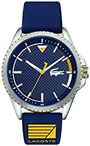 Lacoste Men'S Blue Dial Blue Silicone Watch - 201