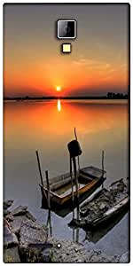 Snoogg ship sunset Designer Protective Back Case Cover For Micromax Canvas Express A99