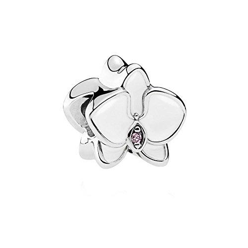 Pandora Damen -Bead Charms 925 Sterlingsilber 792074EN12 Orchidee-band