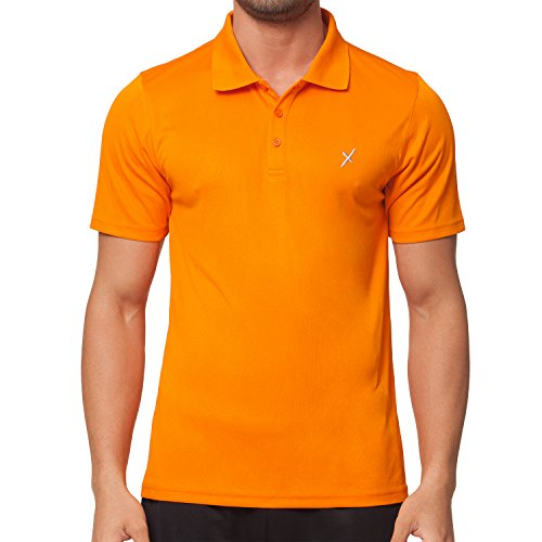 CFLEX Men Sportswear Collection - Herren Polo Shirt - Orange XL