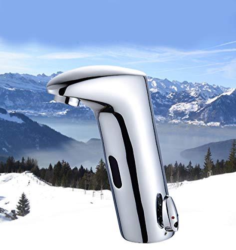 DONGCY Sensor Wasserhahn IR Waschtischarmatur Waschbecken Mischbatterie Heiß und Kalt Wasser Wasserhahns - Kommerzielle Wasser-filter