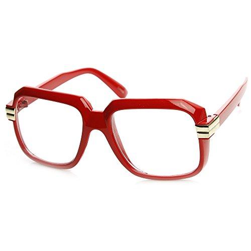 Kiss Brillen in neutralen OLD SCHOOL mod. RUN-DMC - optischen rahmen VINTAGE mann frau HIP-HOP - ROT