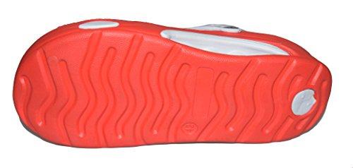 BTS 6008M Herren Clogs mit EVA Sohle in Rot/ Weiß Gr.: 41-46 Rot/ Weiß