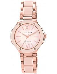 Anne Klein  AK/N1148RGLP - Reloj de cuarzo para mujer, con correa de plástico, color rosa
