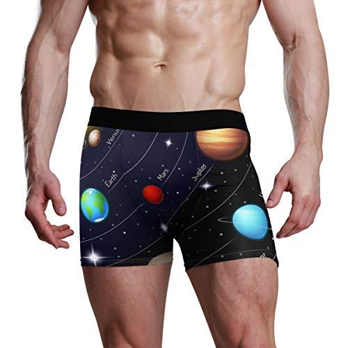 e7b78ff88374 Slip da Uomo Boxer Art Sun Universo Galaxy Solar System Stretch Mutande  Traspiranti