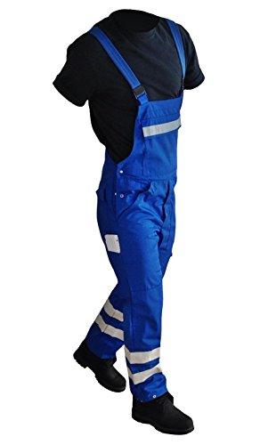 Arbeitshose Warnschutzhose Arbeitslatzhose Berufshose Damen Herren Hose Blaumann Arbeitskleidung Berufsbekleidung Warnschutzkleidung Warnschutz Reflektoren Streifen auch in Übergrößen (64)