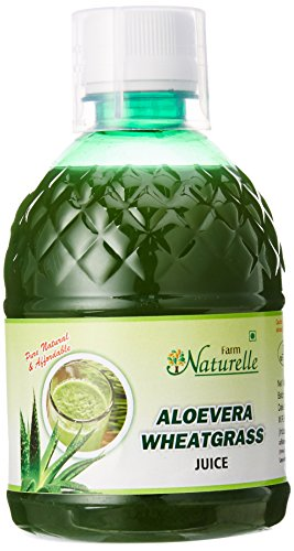 Farm Naturelle Aloe Vera Wheat Grass Juice, 400 ml