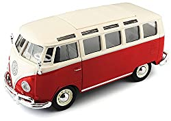 Maisto-Volkswagen Van Samba, rot/weiß (31956W/R)