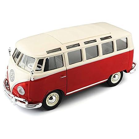 Maisto–Volkswagen Van Samba, rot/weiß (31956W/R)