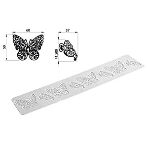 Petit tapis dentelle en sucre Tricot Decor Butterfly papillon - Silikomart