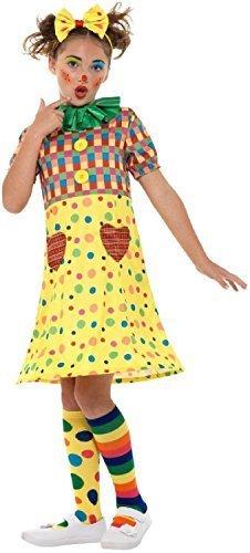 Fancy Me Mädchen gepunktetes Clown Zirkus Karneval Hofnarr Halloween Kostüm Kleid Outfit 4-12 Jahre - 4-6 Years