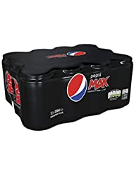 Pepsi Max Cans, 330ml (Pack of 12)