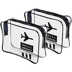 Klar Kulturbeutel TSA Travel Carry On Flughafen Airline konform Tasche Quart Größe 3–1Kit Travel Gepäck Tasche Kosmetiktaschen Gepäck Beutel für Damen & Herren TPU Material Beste Qualität