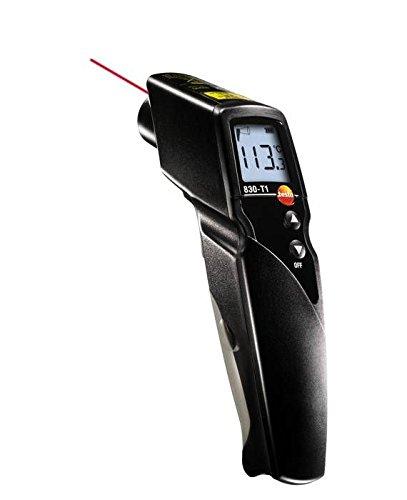 Testo 0560 8311 830-T1 Infrarot-Thermometer, 1-Punkt-Laser-Messfleckmarkierung, 10:1 Optik, einstellbare Grenzwerte, Alarmfunktion