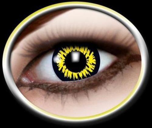 1 Paar Motivlinsen Kontaktlinsen Jahreslinsen WEREWOLF Wolfaugen (Leicht Werwolf Kostüm)