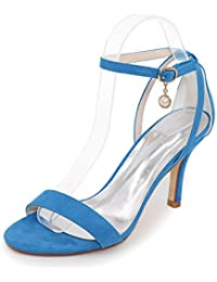 Elegant Women's Shoes Silk Low High Heel Peep Toe Sandals Wedding/Party & Evening More Colors available