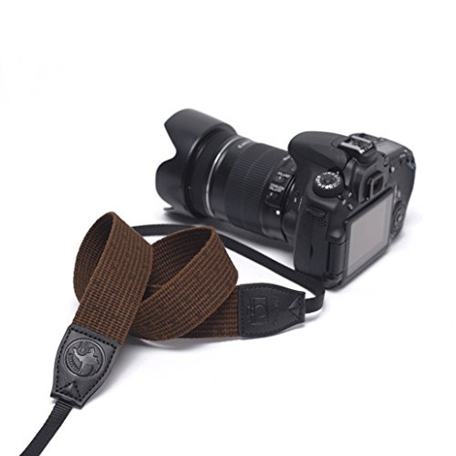 Selighting Kameragurt Schnellverschluss Neopren Kamera Tragegurt Schultergurt Gurt für Canon Nikon Sony Fujifilm Olympus DSLR SLR (Brau)