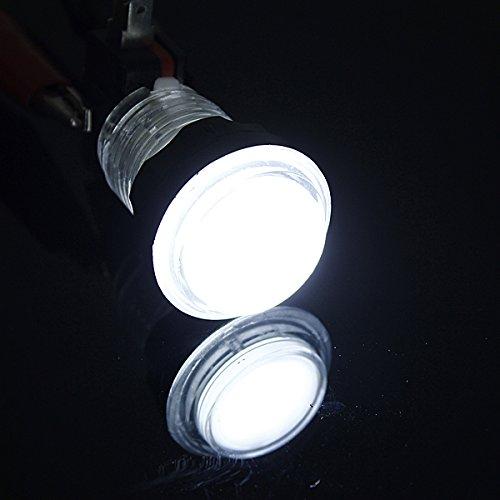 Beleuchtete Arcade-Videospiel-Druckschalter Led-Licht Lampe - Weiß (Senioren-halloween-spiele)