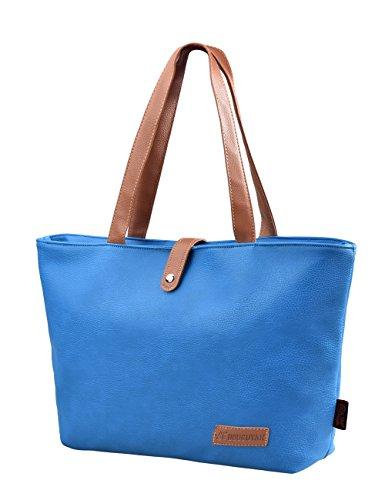 aac206cc19 Douguyan Cerniera Shopper Ufficio Tote Bag Borse a Spalla Donna Borsa  Handbag a Spalla in PU ...