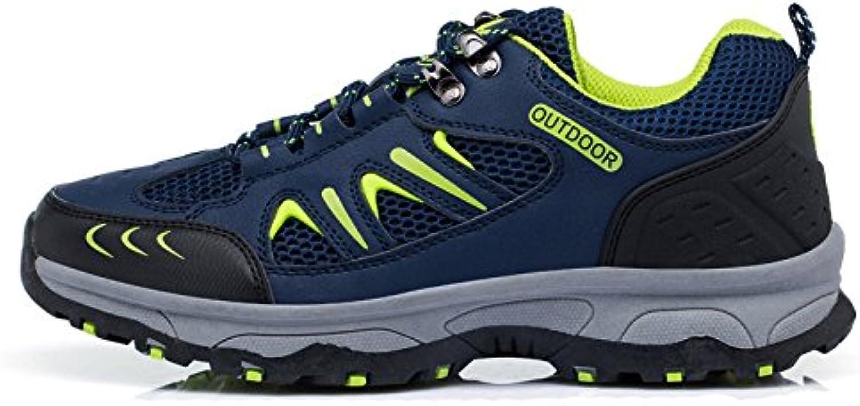 Zapatos De Senderismo para Hombres Deportes Ligeros Impermeables Al Aire Libre Zapatos Deportivos con Cordones  -