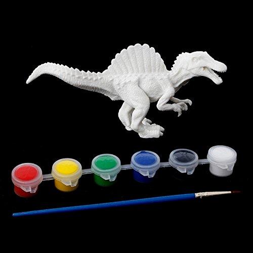 hittech DIY Färben Malen Dinosaurier Modell Zeichnen Graffiti Kinder Artwork mit Bürste und Farben ()
