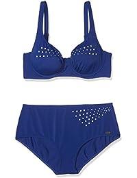 Fashy Bikini 115C Blau Mit Strasssteinen